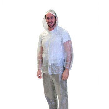 3-Piece Deluxe Rainsuit - Clear