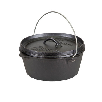 Pre-Seasoned Cast Iron Dutch Oven Flat Bottom