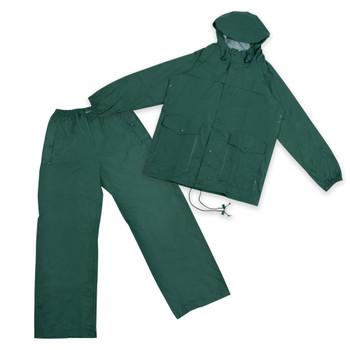PVC-Nylon Deluxe Rain Suit - Forest Green