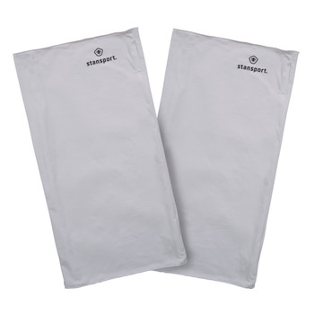 Microfiber Neck Gaiter  - White - 2 Pack