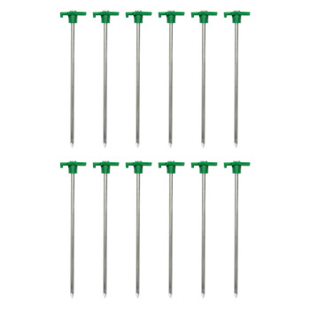 "10"" Steel T-Top Tent Stakes - 12 Pack"