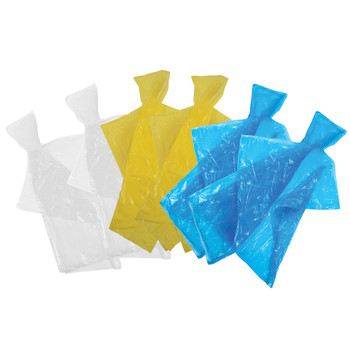 Emergency Hooded Poncho - 6 Pack