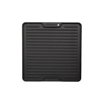 """Pre-Seasoned Cast Iron Griddle with Lid Lifting Hole  - 15"""" surface"""