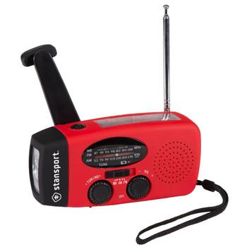 Handheld Solar/Dynamo Powered Flashlight with Radio
