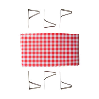 Picnic Tablecloth with Clamps Combo Pack