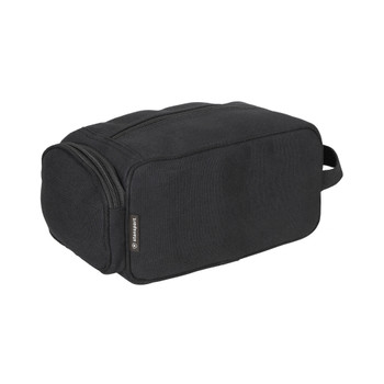 Cotton Canvas Travel Accessory Bag - Black