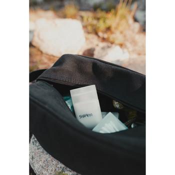 Cotton Canvas Travel Accessory Bag - Black