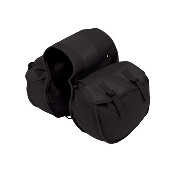 Canvas Saddle Bag - Black