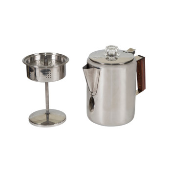 Stainless Steel Percolator Coffee Pot 9 Cups