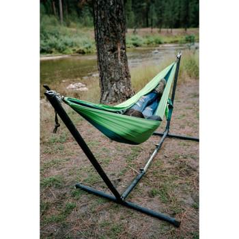 Newport 2-Person Traveler/Backpack Nylon Hammock - Teal