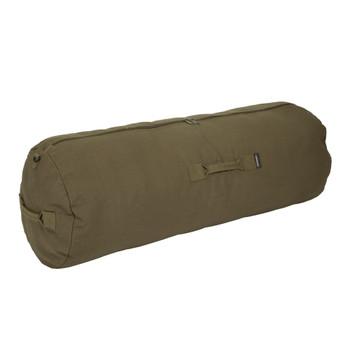 Zippered Canvas Deluxe Duffel Bag - O.D. Green