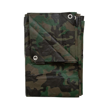 Medium-Duty Rip-Stop Tarp - Green Camo