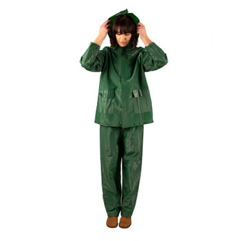 2-Piece Laminated Industrial Rainsuit - Green