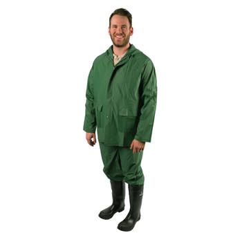 2-Piece Laminated Industrial Rainsuit - Green
