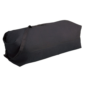 Top Load Canvas Deluxe Duffel Bag - Black