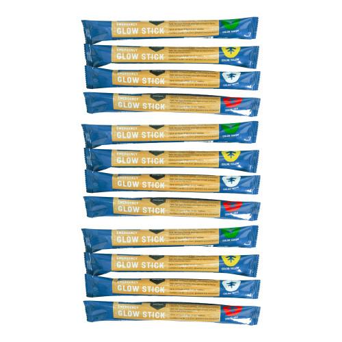 Safety Light Sticks - Assorted - 12 Pack