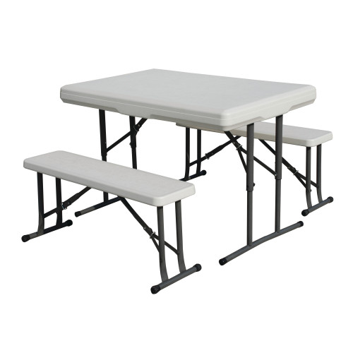 Heavy-Duty Picnic Table and Bench Set