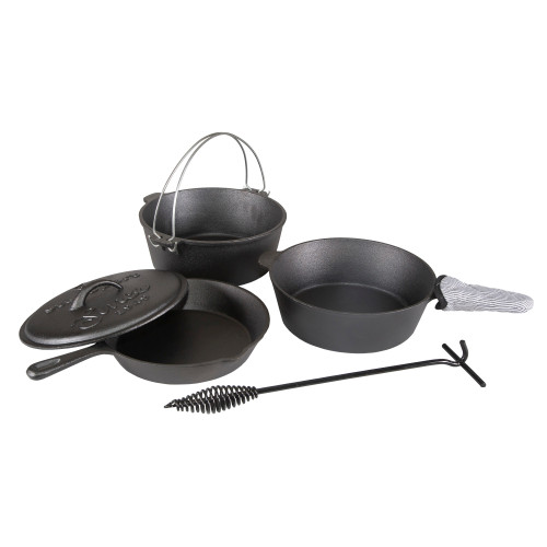 Pre-Seasoned Cast Iron Cook Set 6 Piece Set