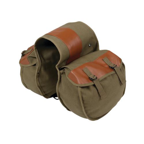 Canvas Saddle Bag - O.D. Green