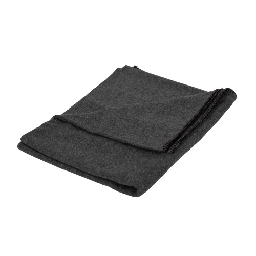 Wool Blend Camp Blankets - Gray