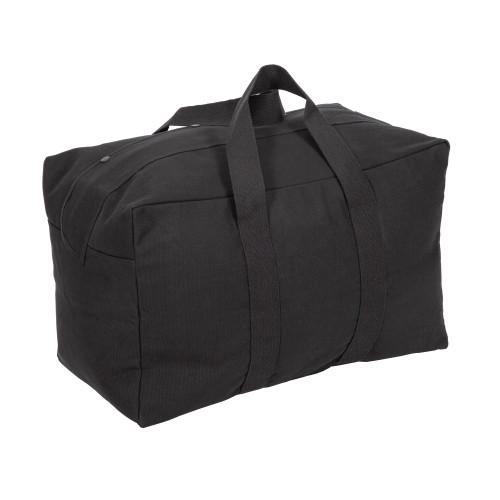 Canvas Parachute Cargo Bag - Black