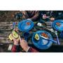 Deluxe 24-Piece Enamel Tableware Set - Blue