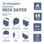 Microfiber Neck Gaiter  - White - 2 Pack