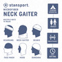 Microfiber Neck Gaiter  - Blue - 2 Pack