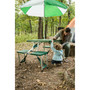 Picnic Table and Umbrella Combo - Green
