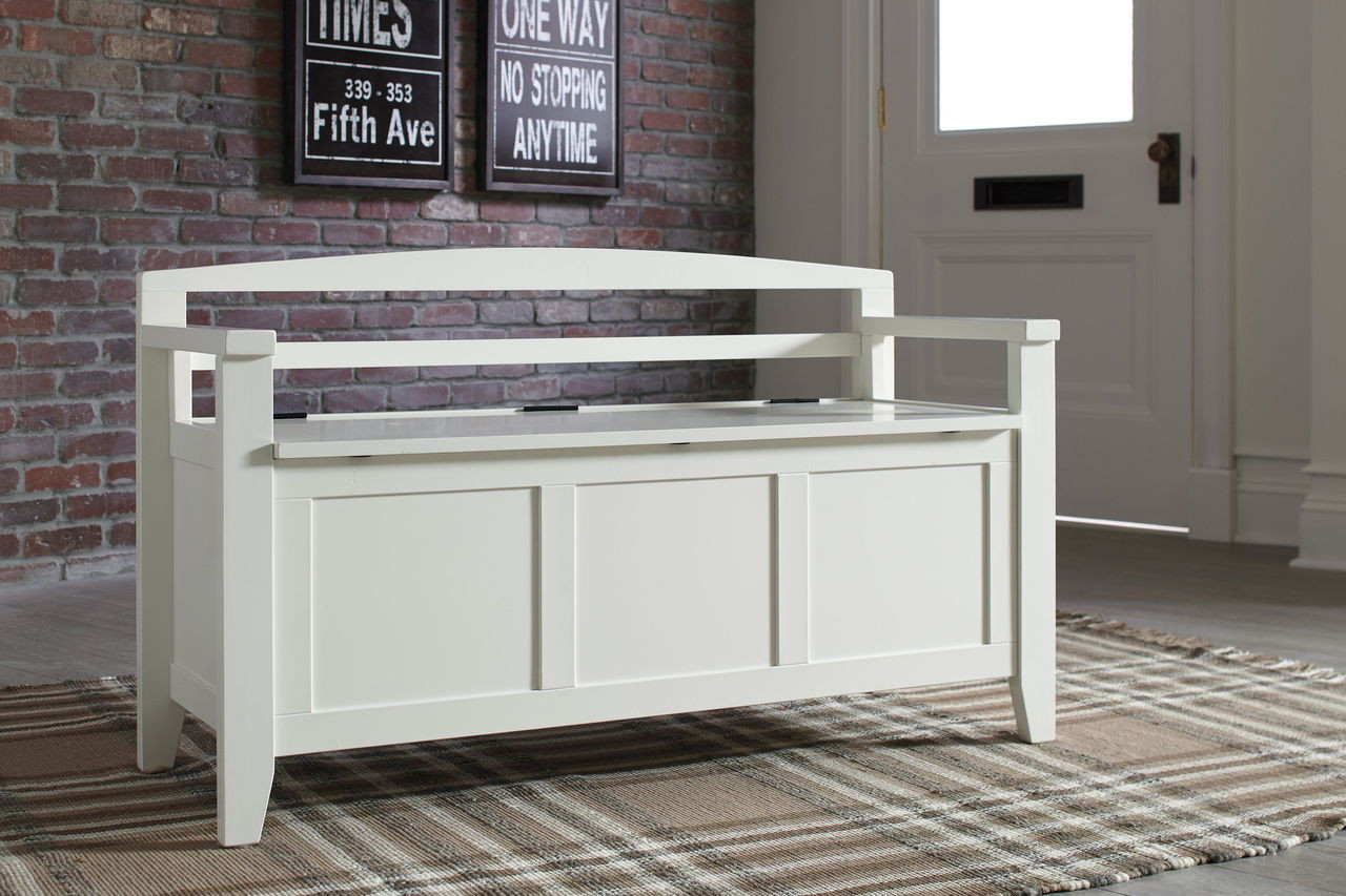 Pleasant The Charvanna White Storage Bench Available At Lifestyle Caraccident5 Cool Chair Designs And Ideas Caraccident5Info