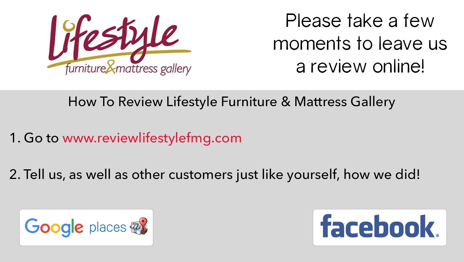 Click here to leave us a review.