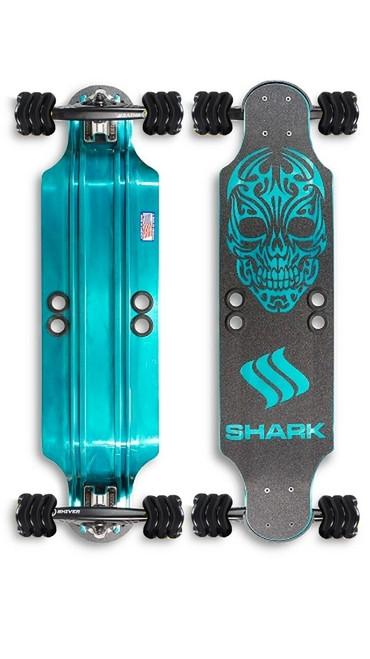 """Shark"" Aluminum 32"" Teal Drop Down by Shark Wheel"