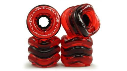 Shark Wheel 60MM, 78A Transparent Red California Roll