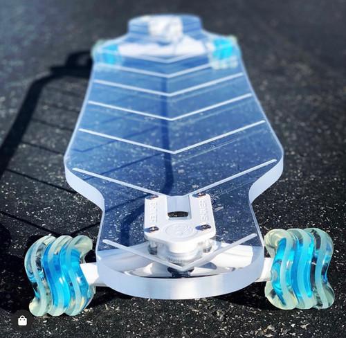 Shark Wheel 72MM, 78A Clear with Blue Hub DNA