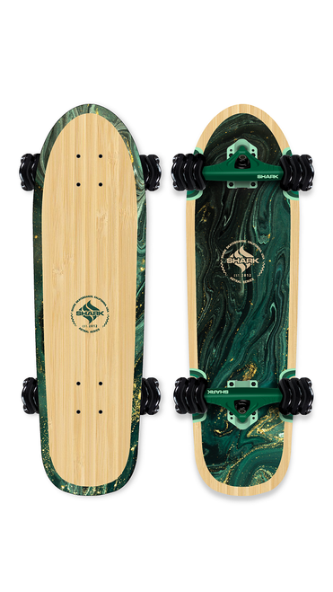 Bamboo Swirl Cruiser Skateboard by Shark Wheel