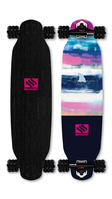 Paint Stripes - Drop Down Longboard by Shark Wheel