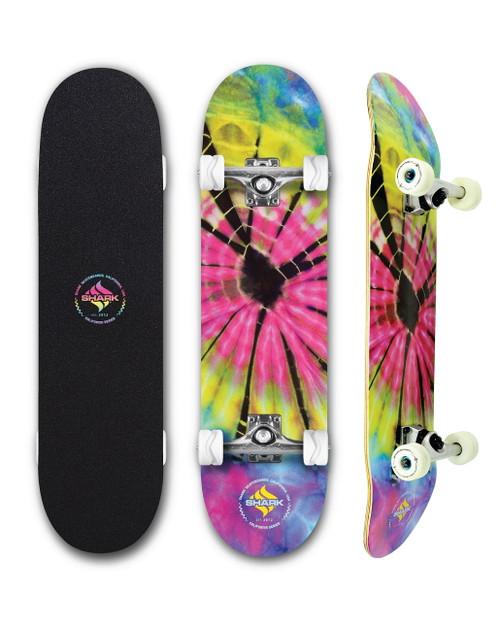 Tie Dye Street Skateboard Complete by Shark Wheel