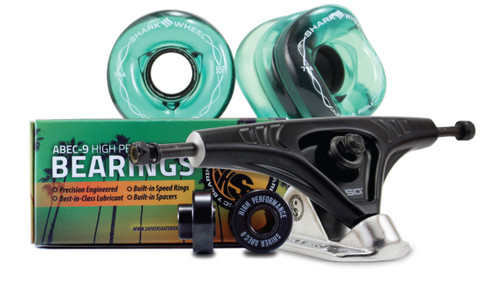 (Ships in January) 60MM BUNDLES. TRANSPARENT EMERALD. DNA WHEELS WITH ABEC 9 BEARINGS & PRO SERIES TRUCKS