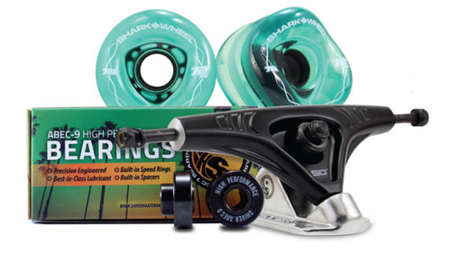 72MM BUNDLES. TRANSPARENT Emerald. DNA WHEELS WITH ABEC 9 BEARINGS & PRO SERIES TRUCKS (Estimated March 2021 Ship Date)