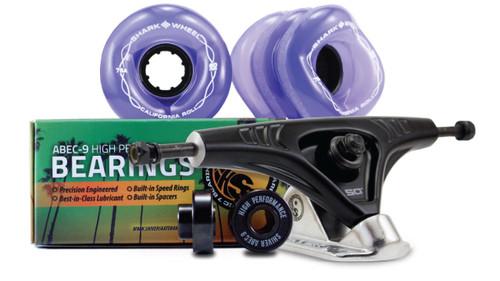 60MM BUNDLES. Transparent Purple. CALIFORNIA ROLL WHEELS WITH ABEC 9 BEARINGS & PRO SERIES TRUCKS