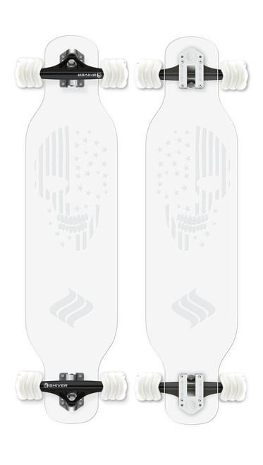 CLEAR Skull Longboard
