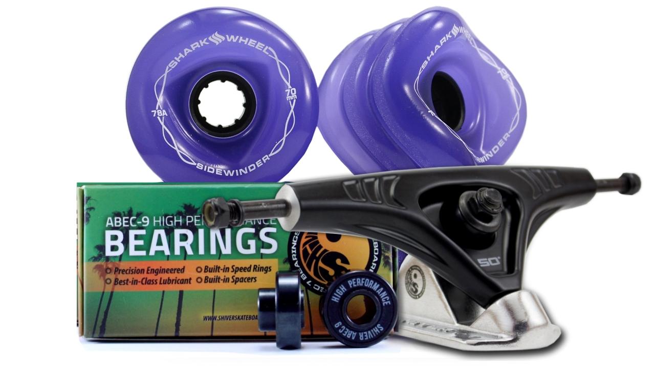 70MM Wheels with Abec 9 Bearings & Pro Series Trucks