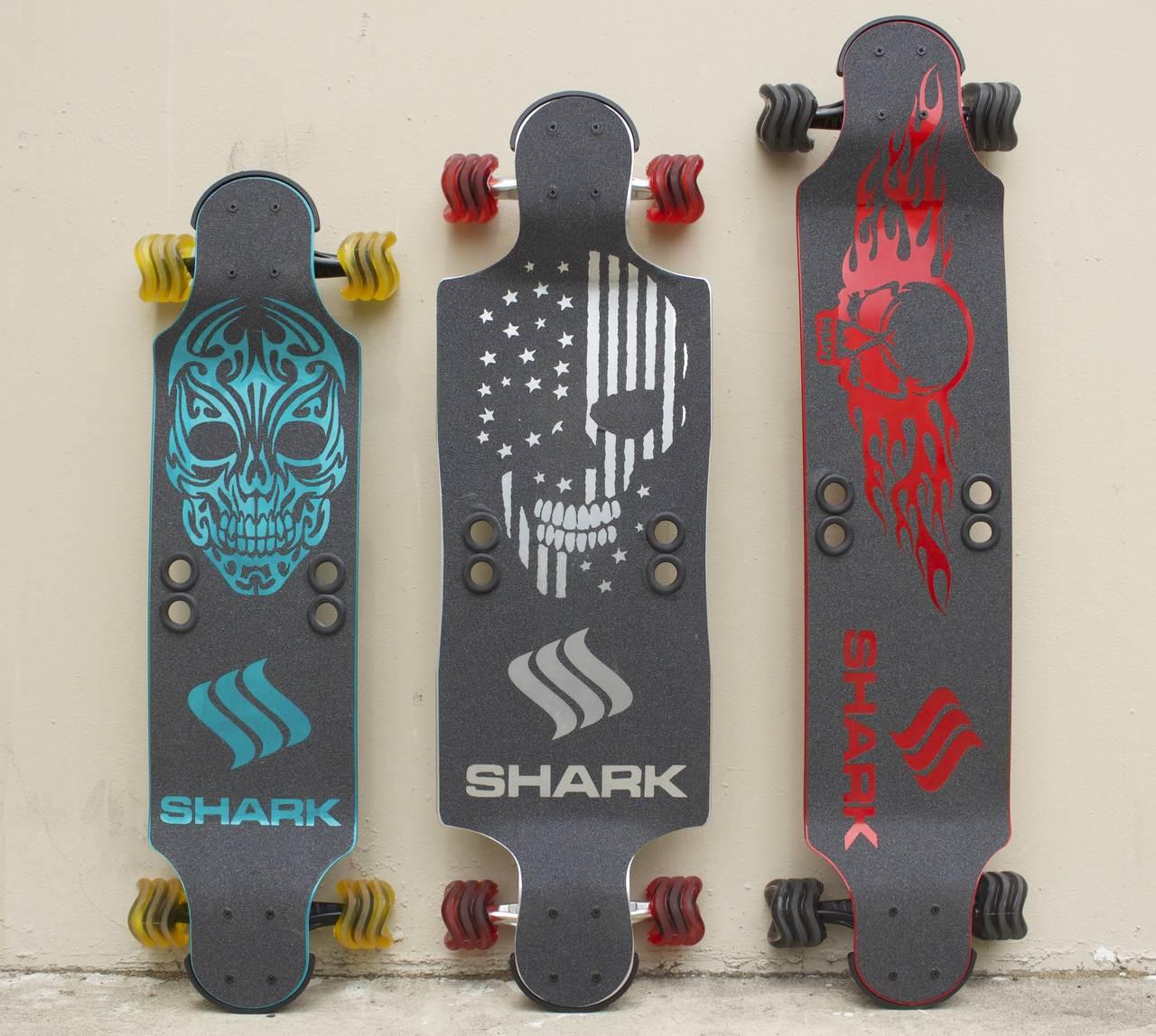 """""""Shark"""" Aluminum 35"""" Blue Drop Down"""