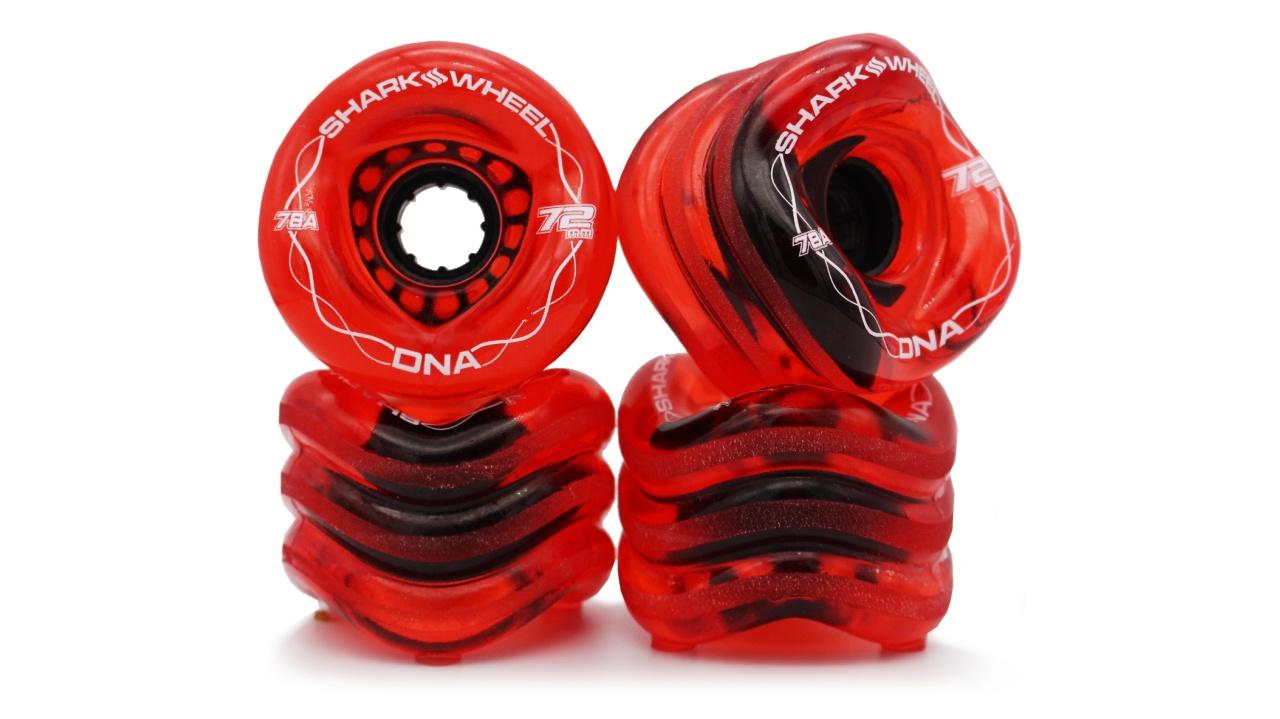 Shark Wheel 72MM, 78A DNA - Transparent Red