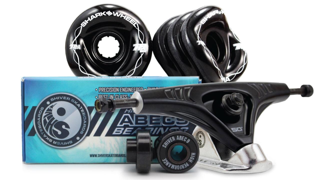 72MM Bundles -  DNA Wheels with Abec 9 Bearings & 180mm Pro Series Trucks
