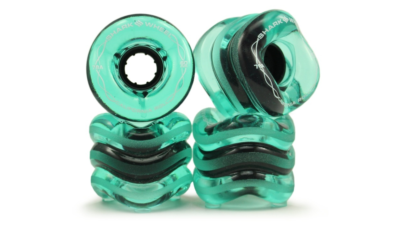 Shark Wheel 60MM, 78A Transparent Emerald California Roll