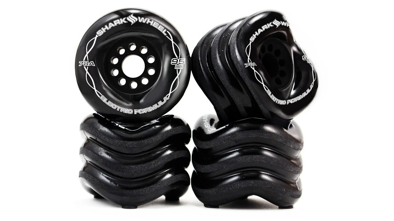 Shark Wheel 95MM, 78A Black - Megalodon Formula