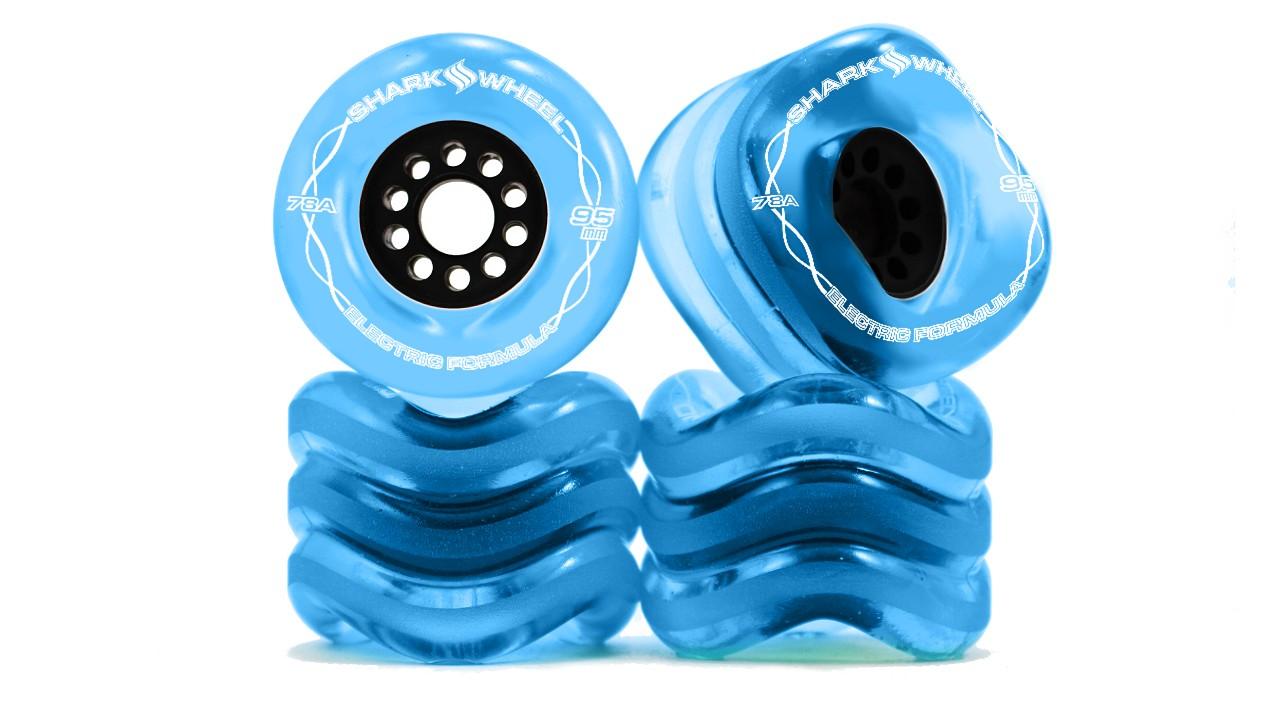 Shark Wheel 95MM, 78A Transparent Blue - Megalodon Formula