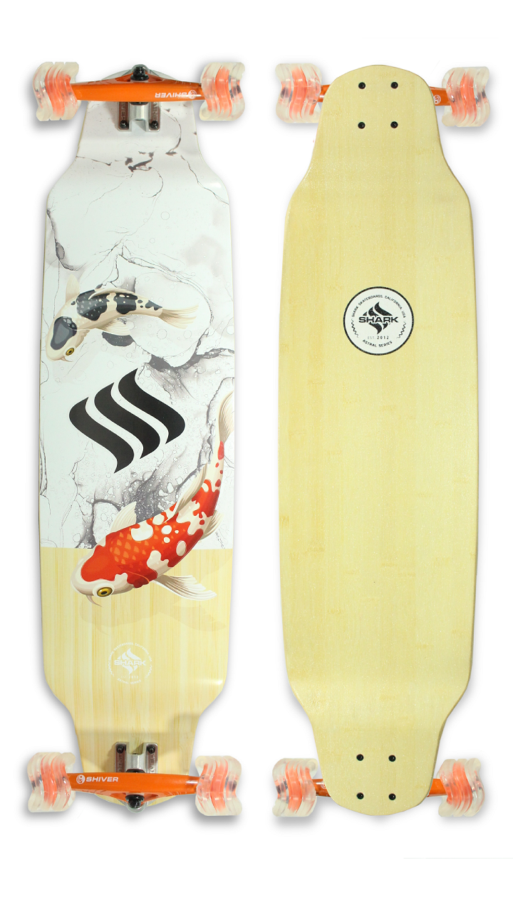 Koi Drop Down Longboard by Shark Wheel