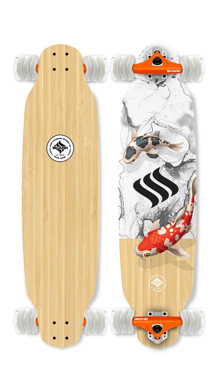 Koi Drop Down Longboard by Shark Wheel